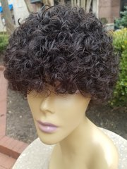 """6"""" Human Jerry Curl Hair Wig"""