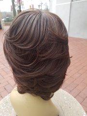 "100% 6"" Human Hair Mix Color Wig"