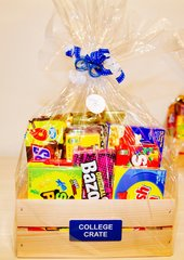COLLEGE CANDY CRATE/ Gift Basket