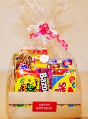 HAPPY BIRTHDAY CANDY CRATE / Gift Basket