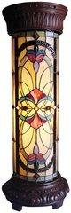 VICTORIAN 30 Inch Round Tiffany Style Victorian Pedestal Lamp, CH19187IV30-PL2
