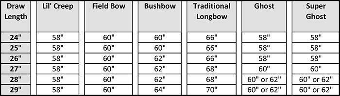 Bow Length Great Northern Bowhunting