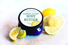 Lemon Sugar Body Butter, 4 oz Vegan. Organic Ingredients. Cruelty Free.