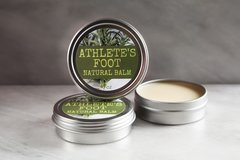 All Natural Athlete's Foot Balm, 2 oz tin. Organic Ingredients. Cruelty Free. Vegan.