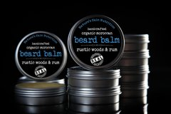 Rustic Woods and Rum Moroccan Beard Balm, 2 oz