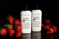 Organic Strawberry Hemp Lotion, Vegan. 4.75 oz
