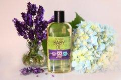 All Natural Lavender Baby Oil, 4 oz Vegan. Organic Ingredients. Cruelty Free.