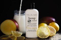 Organic Lemon Sugar Hemp Lotion, Vegan. 4.75 oz