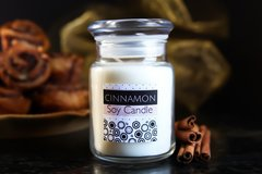 Cinnamon Soy Candle, Glass Apothecary Jar