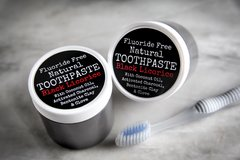 All Natural Black Licorice Toothpaste with Anise. 4 oz jar. Organic Ingredients. Vegan. Cruelty Free.