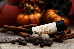 Pumpkin Spice Vegan Lip Balm, standard tube .15 oz Organic Ingredients