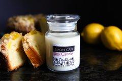 Lemon Cake Soy Candle, Glass Apothecary Jar