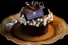 Chocolate Cake Vegan Lip Balm, standard lip balm tube .15 oz