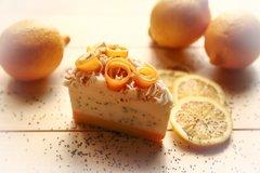 Organic Lemon Poppy Seed Slice Of Pie Soap