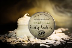 Island Coconut Vegan Body Butter, 4 oz. Organic Ingredients. Cruelty Free.