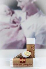Organic, Extra Rich Vegan Lip Balm for Nurses, standard tube .15 oz