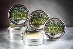 Organic Tattoo Aftercare Balm, 2 oz. Vegan. Cruelty Free.