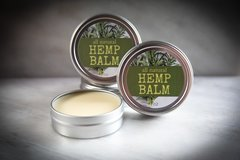 All Natural Hemp Balm, 2 oz. Organic Ingredients. Vegan. Cruelty Free.