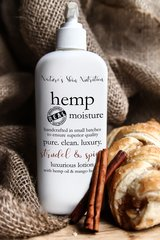 Strudel and Spice Organic Hemp Body Lotion, 8 oz pump