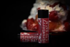 Vegan Strawberry Lip Balm, standard tube .15 oz Organic Ingredients.