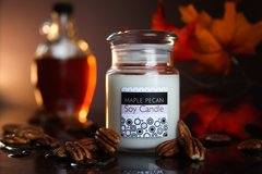 Maple Pecan Soy Candle, Glass Apothecary Jar