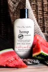 Organic Watermelon Hemp Lotion, Vegan. 4.75 oz