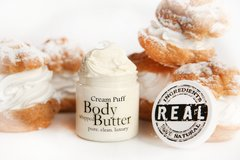 Organic Cream Puff Body Butter, 4 oz glass jar