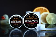 All Natural Fluoride Free Citrus Toothpaste for kids, 4 oz. Organic Ingredients. Vegan. Cruelty Free.