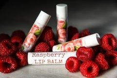 Organic Raspberry Vegan Lip Balm, standard tube .15 oz