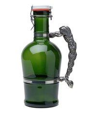 #614 Hop Handle Green Glass
