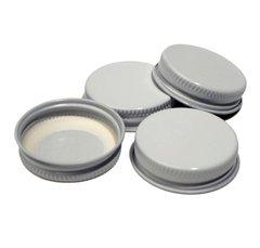 #104 White Metal Cap - 72/Pack