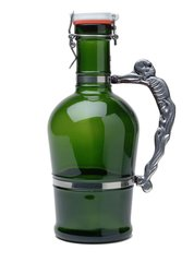 #615 Knucklehead Handle Green Glass
