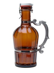 #704 Classic with Romantic Handle Amber Glass