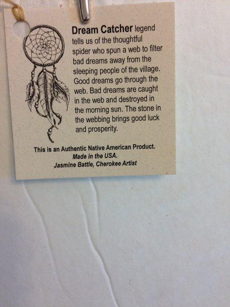 Dream Catcher Legend Authentic Cherokee Native American