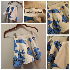Mini Rodini Blue Fish Skirt Size:6