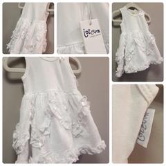 Jottum White Ribbon Dress Size:9M