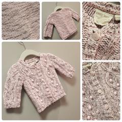 Petit Lem Pop-Pink Knit Sweater Size:3M