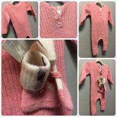 Burberry Cashmere Baby Bodysuit Size:9M