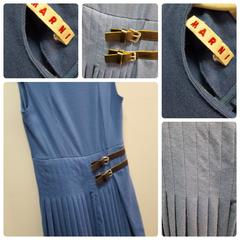Marni Sharpen Blue Dress Size:4