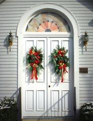 Christmas Church Doors