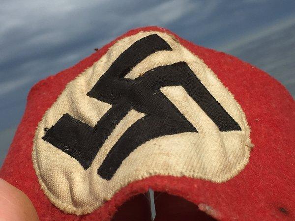 Vintage Nazi Party Swastika Armband Elastic Back National