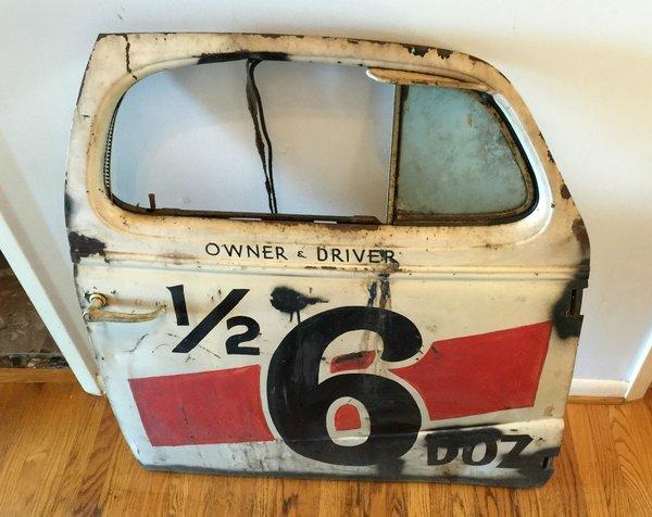 Vtg 1937 38 Chevrolet Stock Car Door Dorsey Speedway