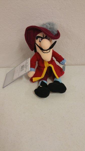 Captain Hook Peter Pan Mini Bean Bag Disney One And