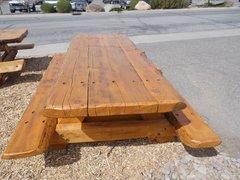 11' 3 Slab Pine Picnic Table