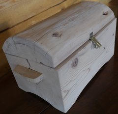 Unfinished Log Style Treasure Chest & Jewelry Box