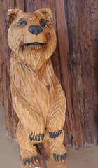 3' Toste Chainsaw Carved Bear