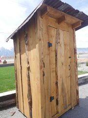 Pine Outhouse Style Tool Shed