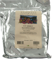 """Kelp Powder Organic"" 1 lb by Starwest Botanicals $6.99"