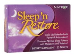 """""""Sleep 'n Restore"""" Restful, Deep Sleep 20 tabs by Natrol $6.99"""