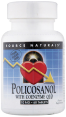 """Policosanol with Coenzyme Q10"" (30+30Free = 60 tabs) by Source Naturals $19.50"